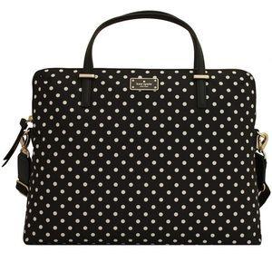 Kate Spade Daveney Laptop Bag Polka Dot NEW